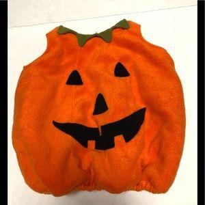 Pottery Barn Kids costume pumpkin 12-24m Halloween